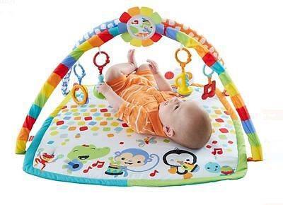 Fisher-Price Baby Activity Gym Toy Musical Play Mat Bandstand Washable Kids Gear