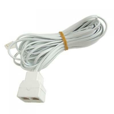 26 Feet 2 Jack Telephone Cellphone Extension Cord Cable