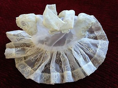 Vtg Lot Clothes Doll Terri Lee,Garden Party, of White Dress,Hat,Ice Skates,Shoes