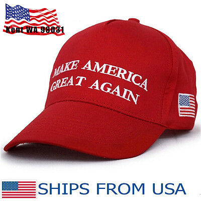 US Make America Great Again Donald Trump Hat Cap Red Republican Embroidered