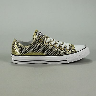 Converse CT AS OX Leather Trainers Gold/Black/White New in box UK size 4,5,6