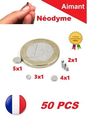 50 Aimants Neodyme ép. 1mm N35 Puissant : Photo, Magnet, Fimo, Scrapbooking...