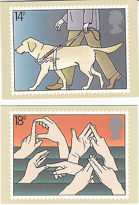 Set 4 Postcards - International Year of Disabled Peple 1981
