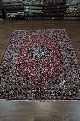 Great Handmade Traditional Red Kashan Persian Oriental Area Rug Carpet 8'5X11'8