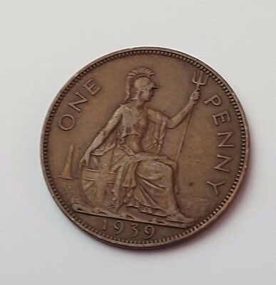 1939 - One Penny - Great Britain - King George VI - English UK Coin