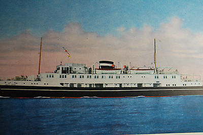 Ww2 Japan M.s. Maiko Maru Color Nm Postcard.seems To Be Painting/this Ship Sunk