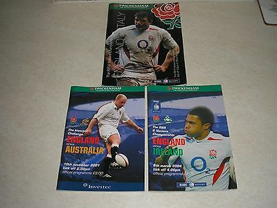 Six Nation Rugby Union Programmes.