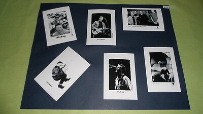 "Billy Bragg Set of 6""x4""Inch Photos x6 Collectable Pop Memorabilia Prints J410"