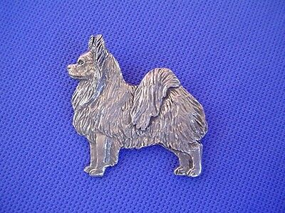 Papillon Pewter pin STANDING #50C Butterfly Dog Jewelry by Cindy A. Conter