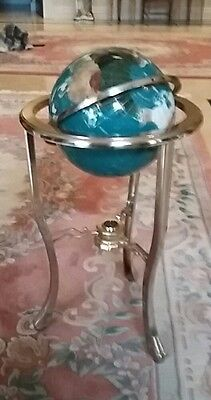 Vintage Antique Style Large 3ft Mother of Pearl Gemstone Globe