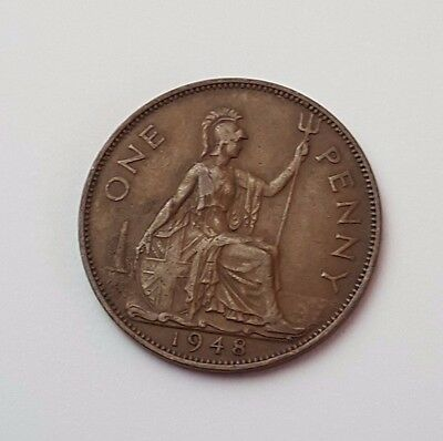 1948 - One Penny - Great Britain - King George VI - English UK Coin