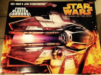 Star Wars Revenge Of The Sith Obi Wan Starfighter Hasbro Factory Sealed