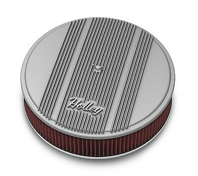 Holley Performance 120-160 Round Finned Air Cleaner