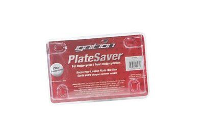 636 Distributing| Inc 9082 Clear Plate Saver Motorcycle License Plate Cover