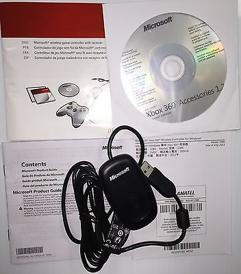 Microsoft Xbox 360 Wireless Receiver Usb For Pc Gaming Controller 100% Official
