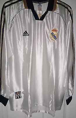 Real Madrid Long Sleeve 1999 Player Issue Shirt Adidas 99 L/S Jersey Spain New