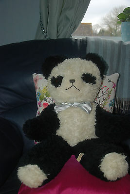 REDUCED!! Wonderful Condition Vintage Antique Old Deans Panda Teddy Bear