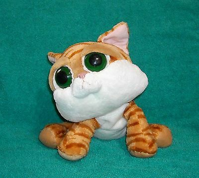 "LIL PEEPERS Orange/White Striped 9"" Plush *CHILIE* Big Eyes KITTY Cat ~ SO CUTE!"