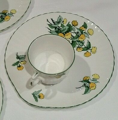Crown Staffordshire Cornwall Luncheon Set Plate & Teacup Snack Dessert Coffee
