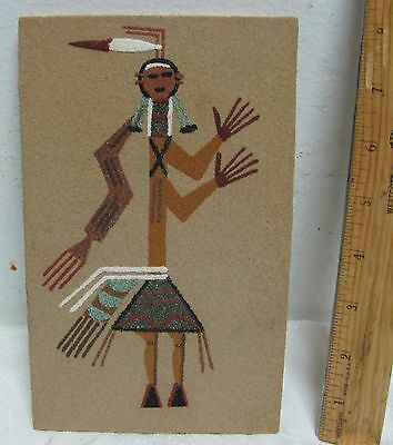 Vintage Harry Begay Sand Painting Navajo Signed Butterfly People With Poem