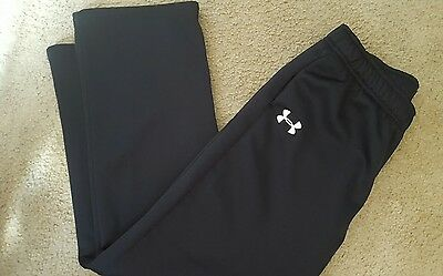 Under Armour Boy's basketball Pants Pockets Size Youth Large Black athletic