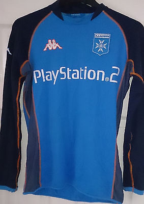 Auxerre Long Sleeve Kappa Football Shirt Playstation 2 Soccer France Rare