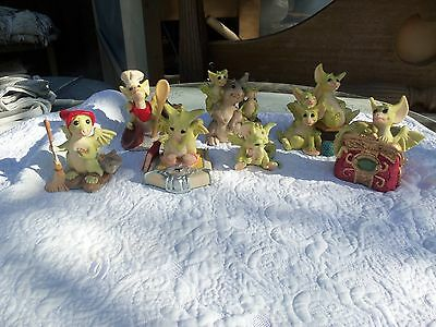Pocket Dragons Lot of 7 Percy Scribbles Friends Treasure. and more all Damaged