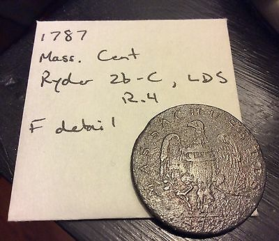 1787 Massachusetts Colonial one cent