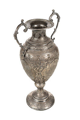 "19th century Beautiful Persian Silver Urn ""Hand Chased"" 16"""
