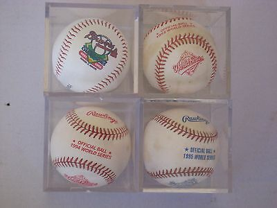1992, 1994, 1995, Official World Series Balls and Braves 1991 1992 Braves Ball
