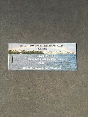 Turks & Caicos - 21st Birthday Princess of Wales - Stamp Booklet Mint