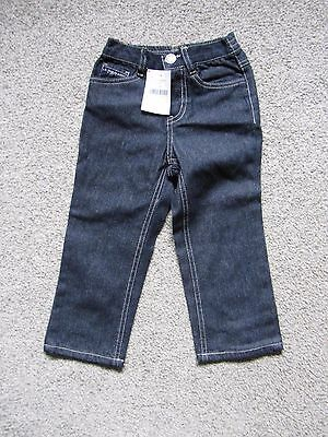 U.S. Polo Assn. Boys Toddler Belted Jeans Size 3T NWT Classic Navy