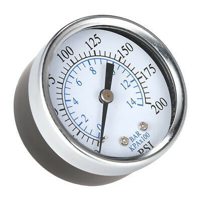 "Air Pressure Gauge Meter Air Compressor Hydraulic 2"" Face 0-200PSI 1/4"" NPT"