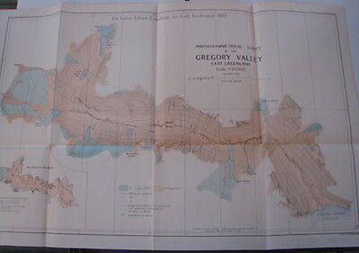 maps and charts East Greenland, Arctic - Fiord (Fjord) Region 1935 with book