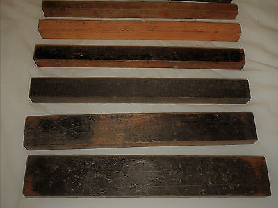 """Letterpress Furniture """"SIX"""" Pieces 45 Picas Total 45"""" FREE SHIPPING 1st Class"""