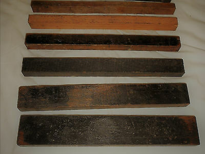 """Letterpress Furniture """"SIX"""" Pieces 60 Picas Total 60"""" FREE SHIPPING 1st Class"""