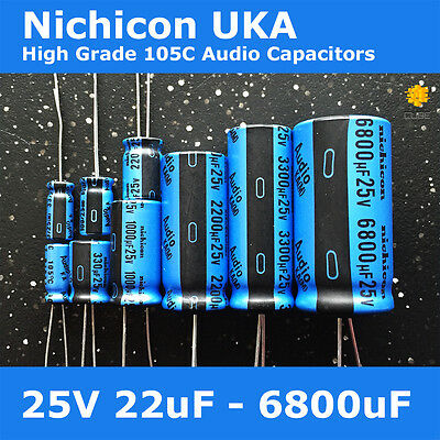 Nichicon UKA KA High Grade Wide Temperature 105C for Audio [25V] Capacitors