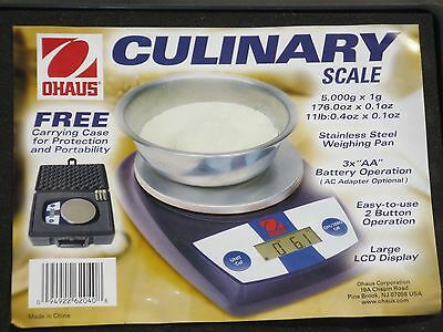 OHAUS CL 5000F Portable Culinary Scale 5000 g Capacity with Protective Hard Case