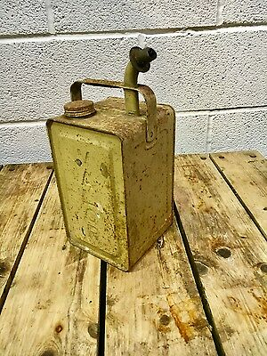 Vintage oil can ,  petrol can  , Man Cave , Games Room , retro