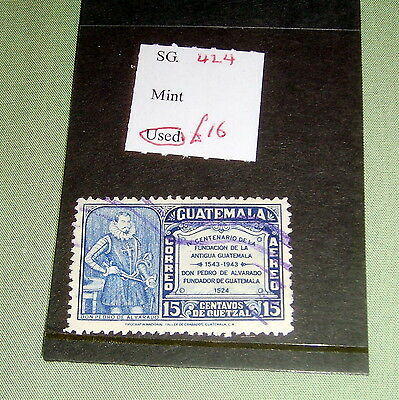Guatemala Stamp, Sg 424, Fine Used, Stated To Catalogue £16.