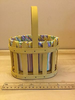 Longaberger 2007 Picket Fence Easter Basket/complete Combo