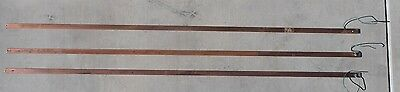 "Copper Grounding Bus Bars, 6 Foot Long (72"" x 1"" x 3/16"")-Lot of 3 Free Shipping"
