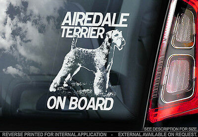 Airedale Terrier - Car Window Sticker - Dog Sign -V01