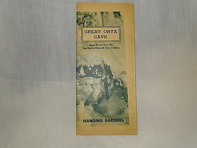 Collectible Vintage Booklet Advertising Mammoth Cave Kentucky, Great Onyx Cave