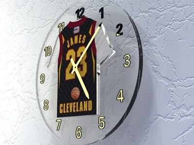 LeBRON JAMES CLEVELAND CAVALIERS NBA JERSEY Legends Clock - NBA CAVS LEGEND !!!