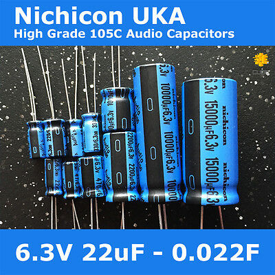 Nichicon UKA KA High Grade Wide Temperature 105C for Audio [6.3V] Capacitors