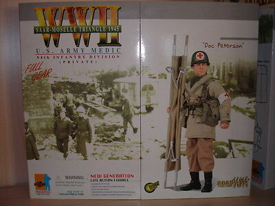 "DRAGON ACTION FIGURE 1/6 - ""Doc Peterson"" - US Army Medic - WW II"