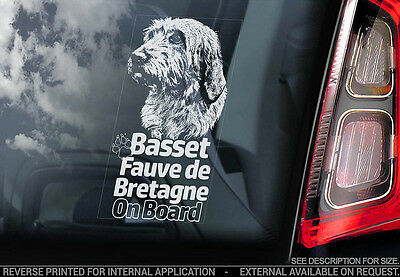 Basset Fauve de Bretagne - Car Window Sticker - Dog Sign -V01