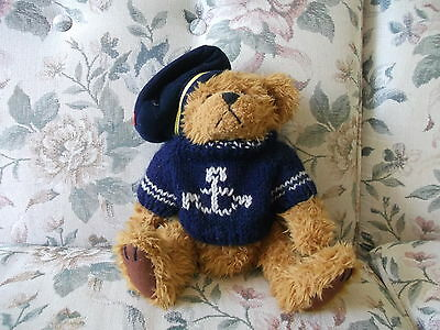 "TANGO Pickford Bears 9"" Brass Button Bear Bear of Happiness with labels"