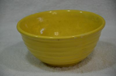 VINTAGE~EARLY~BAUER~CALIFORNIA~POTTERY~RINGWARE~yellow BOWL 7.5X3.75""
